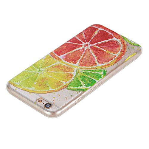 iPhone 6 Hülle, iPhone 6S Hülle, Gift_Source [ Mandala ] Hülle Case Transparent Weiche Silikon Schutzhülle Handyhülle Schutzhülle Durchsichtig TPU Crystal Clear Case Backcover Bumper Case für iPhone 6 E1-Zitrone