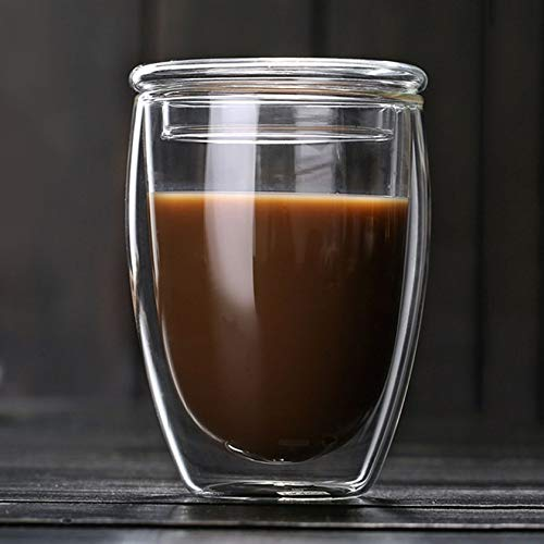3fa1227801e6 Heat-Resistant Double Wall Glass Cup Beer Coffee Cup Transparent Glass Cup