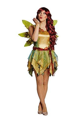 Damen Kostüm Elfe Waldfee Karneval Fasching Fantasy Feenkostüm (Kostüme Fantasy Elfen)