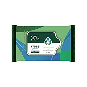 Kaya Youth Hydro Replenish Gentle Cleansing Wet Face Wipes with Aloe Vera, Remove Dirt, Oil, Pollutants,Developed by Dermatologists, Clean and Refreshed Skin, 30 Wipes