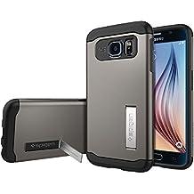 Spigen SGP11330 - Funda para Samsung Galaxy S6, Plata/Negro
