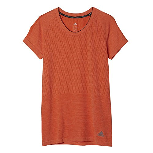 adidas Damen T-Shirt Adistar Wool Primeknit Orange