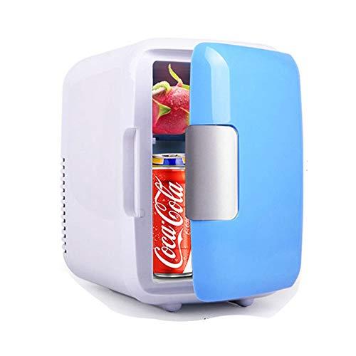 WiaLx Outdoor Sports Travel Camping und Zuhause 4 Liter Mini tragbare kompakte persönliche Kühlschrank Auto Kühlschrank kühlt und heizt Inklusive Stecker für die Steckdose und 12V Autoladegerät - Sport-kühlschrank