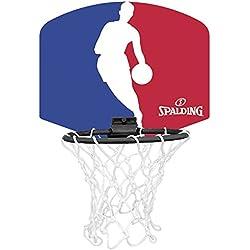 Spalding NBA Logoman Mini canasta de baloncesto, Unisex niños, Azul / Rojo / Blanco, Única