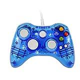 Afterglow PC-Controller, Etpark Trasparennt Gamepad mit 7 LED-Lichtern, unterstützt Xbox 360 und PC (Windows XP/7/8/10), Blau