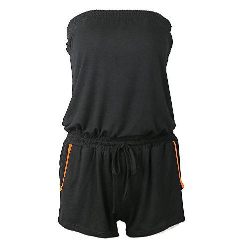 SUNNOW Women's Sexy Summer Off Shoulder Romper Strapless Elasic Waist Jumpsuit Short Pants Playsuit