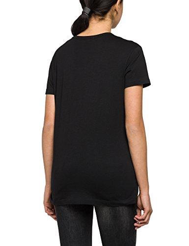 Replay Damen T-Shirt Schwarz (Black 98)