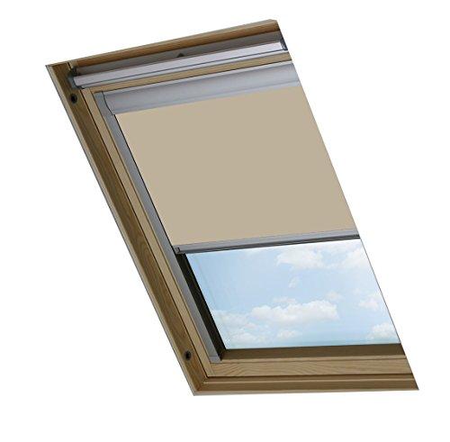 Bloc skylight blind c02- tenda a rullo oscurante per lucernari velux, colore: crema