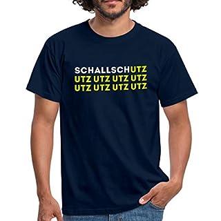 Spreadshirt Schallschutz UTZ UTZ UTZ Musik Laut Party Eskalation Männer T-Shirt, M, Navy