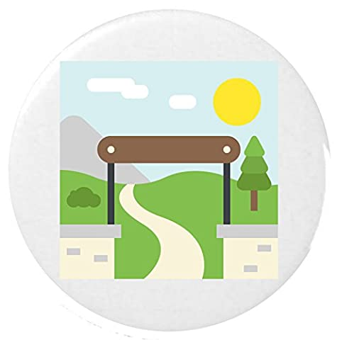Parc National 25mm Badge Bouton Emoji / National Park Emoji 25mm Button Badge