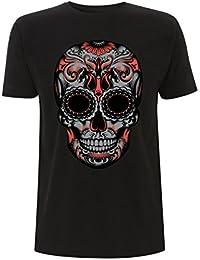 Generico T-Shirt Classica Stampata Teschio Stilizzato Maglietta di Cotone  Stampata in Digitale Personalizzabile 4e0cb73bd90