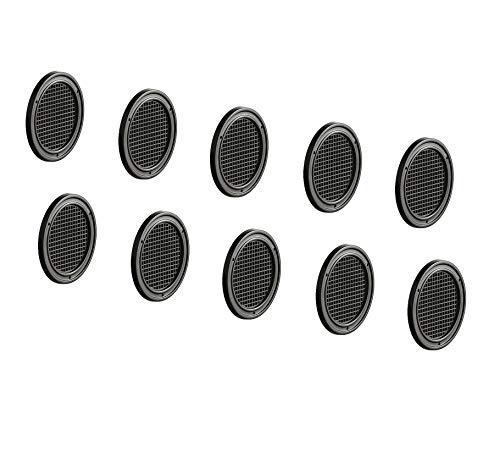 Preisvergleich Produktbild Gedotec Tür-Entlüfter gelocht Möbel-Gitter Belüftung Lüftungsgitter rund - H3609 / Kunststoff braun / Ø 50 mm / für Caravan & Möbel / 20 Stück