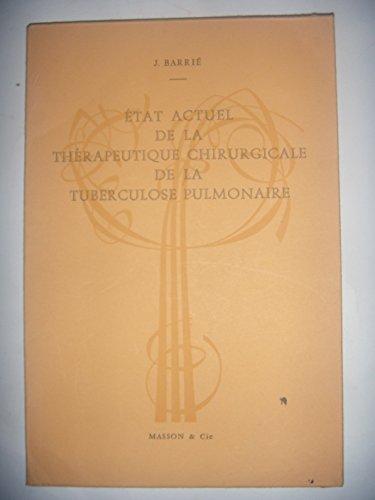 MEDECINE CHIRURGIE: Thérapeutique de la tuberculose pulmonaire, envoi, 1963, BE