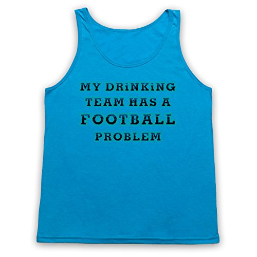 My Drinking Team Has A Football Problem Funny Football Slogan Tank-Top Weste Neon Blau