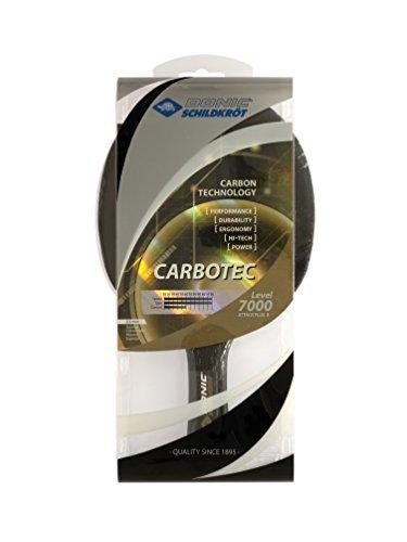 Donic-Schildkröt Tischtennisschläger CarboTec 7000, 100% Carbon, 2,3 mm Schwamm, Liga QRC - ITTF Belag, anatomisch, 758215