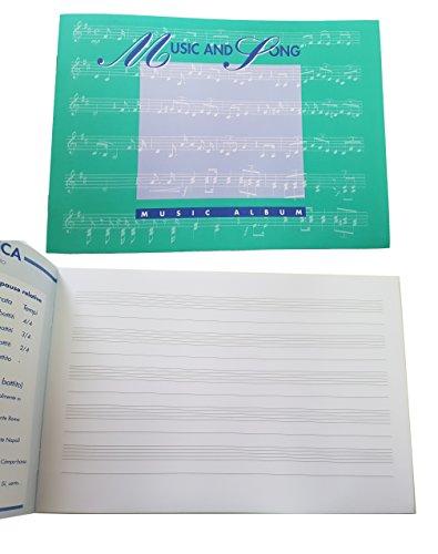 takestop-SET-3-PEZZI-PENTAGRAMMA-QUADERNO-QUADERNI-A5-MUSICA-SPARTITI-SPARTITO-MUSICALE-25-FOGLI-ALBUM-ADATTO-PER-SCRIVERE-NOTE