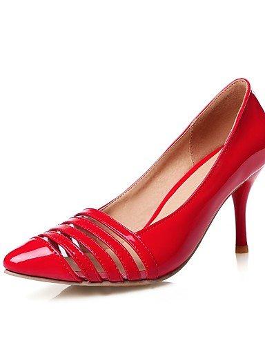 WSS 2016 Chaussures Femme-Bureau & Travail / Décontracté-Noir / Rouge / Blanc / Argent / Or-Talon Aiguille-Talons / Bout Pointu-Talons-Polyuréthane silver-us9.5-10 / eu41 / uk7.5-8 / cn42