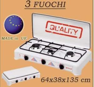 Itimat gas 3 fuochi fornello campeggio gpl cucina nuovo - Prezzo gas gpl casa ...