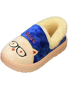 Snow Boots Schuhe Jamicy® Nette Kleinkind Bogen Baby Mädchen Jungen Plüsch Flock PVC Weiche Sohle rutschfeste...