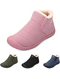 53732123a1cf2 gracosy Women Snow Boots Waterproof Fur Lined Winter Ankle Short Boots Slip  On Lightweight Anti-Slip Boots Casual Comfortable Outdoor…