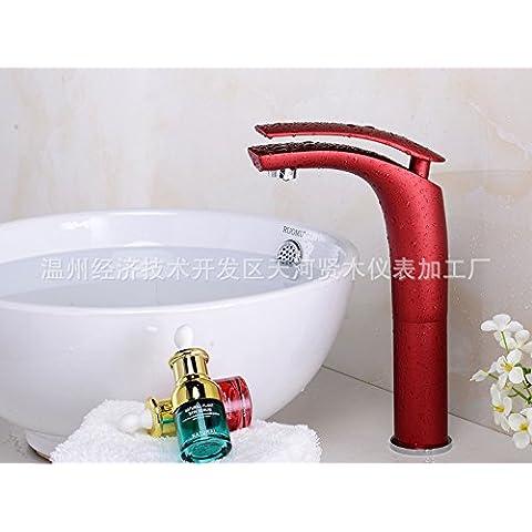 BTJC la nueva Multicolor lavabo grifo baño bañera grifo grifo moda tire de caliente y fría de armario 30