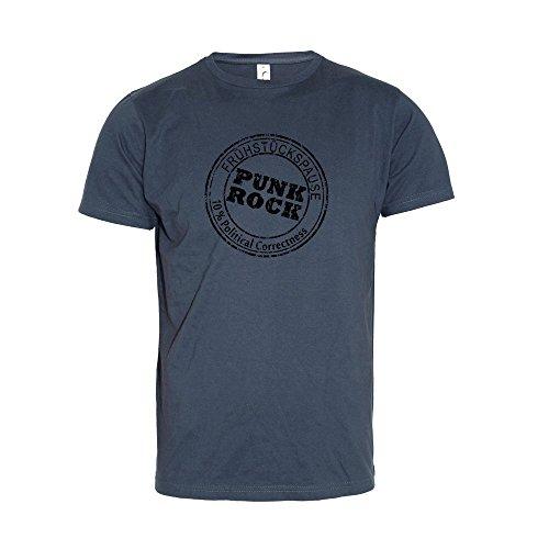 "Frühstückspause ""Punk Rock black"" T-Shirt (Mythic Vintage) Blau"