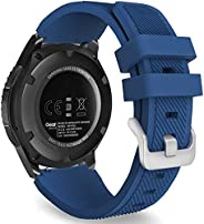 accessoryME Replacement Band Compatible with Samsung Galaxy Watch 3 45mm, 22mm Silicone Quick Release Band Spo