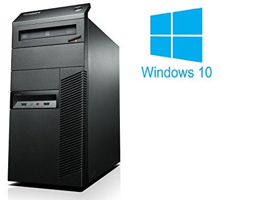 Lenovo Thinkcentre M91p | Büro Computer/Internet PC | Intel Core i5-2400 @ 3,1 GHz | 4GB DDR3 RAM | 250GB HDD | DVD-Brenner | Windows 10 Home vorinstalliert (Zertifiziert und Generalüberholt)