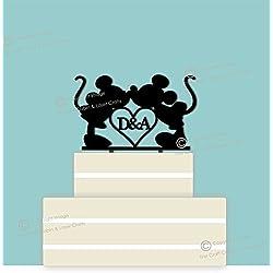 Figura boda personalizada con iniciales