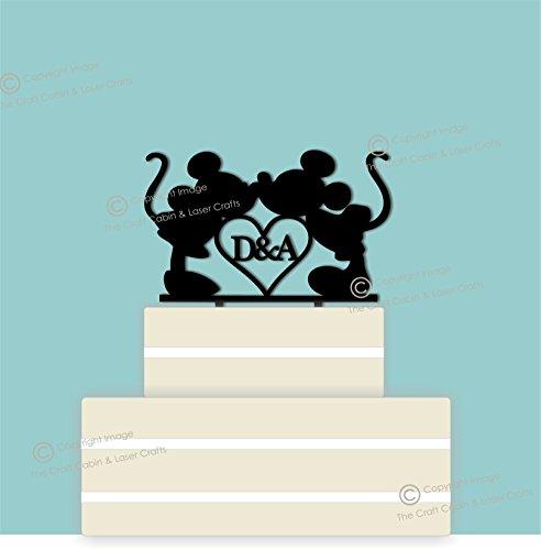 Disney personalizado acrílico decoración para tarta para boda, pareja, compromiso, aniversario