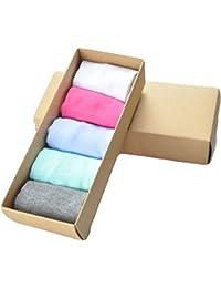 Demarkt Chaussettes Femmes Chaussettes Summer Respirant Mode Style Confortable Occasionnels Emballage Boîte couleurs Bonbons 5 Paires
