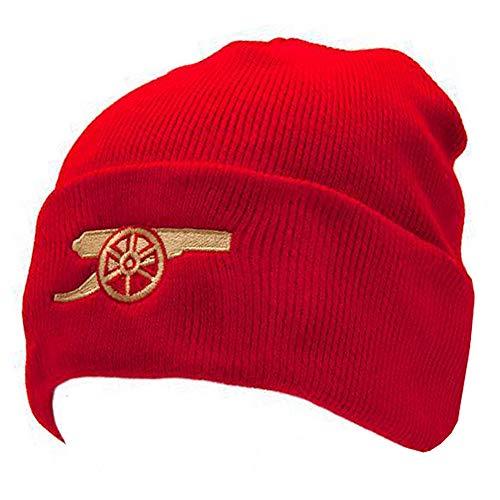 Arsenal-Fußballverein-Kernkanone gestrickt Drehen Hut rote Mütze offiziell - Fc Arsenal-fußball-hut
