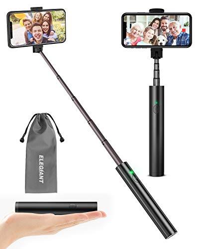 ELEGIANT Selfie Stick, Aluminium Alle-in-EIN Selfiestick Bluetooth Selfie Stange Stab mit drahtlos Fernauslöser für iPhone XS XR X 8 8P 7 7P 6s 6 5, Android Samsung S9 8 7 6 Huawei (4-6.5 Zoll Handy)