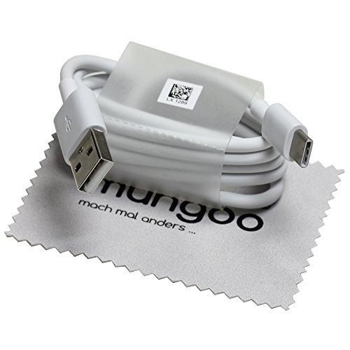 Schnell Ladekabel für Original Huawei AP51 2A Typ-C USB-C 100cm Datenkabel LX 1289 P20 (Pro/Lite), P10 (Plus), P9 (Plus) mit mungoo Displayputztuch