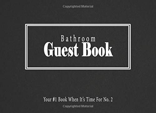 Bathroom Guest Book: Your #1 Book When Its Time For No. 2 (Black Edition, Band 1) (La Halloween-party Exchange)