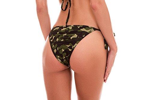RELLECIGA Damen Bademode Bikini Unterteil im Brasil-Style Army Style