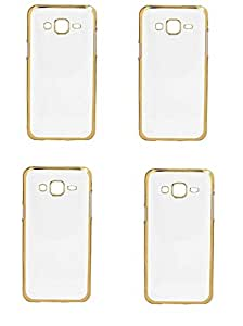 Saihan 4 Packs of Ultra-thin Crome Luxury Golden Chrome Electroplating Soft TPU Case for Gionee Pioneer P6