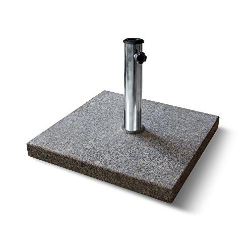 PARAMONDO Base paragüero de granito para Sombrilla / Parasol, cuadrada