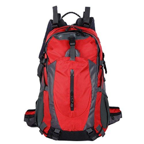 OGERT Grande Capacità All'aperto Alpinismo Viaggio Zaino Pioggia,Blue Red
