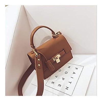 XUZISHAN Mesdames'Bag Lock Place Sac À Main Soft Pure Cuir Messenger Bag Fashion Bandoulière Simple Simple Épaule Sac Kelly