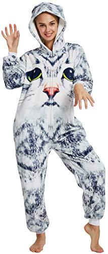 Kitty's Vogue Apparel Chichidog Halloween-Pyjama Homewear Einteiler Cosplay Kostüm Loungewear Gr. (Passende Höhe: 179/188 cm) X-Large, Big Eyes Cat (Halloween Kitty Cat Kostüm)
