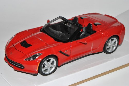 Maisto Chevrolet Chevy Corvette C7 Stingray Cabrio Rot Ab 2013 1/24 Modell Auto mit individiuellem Wunschkennzeichen