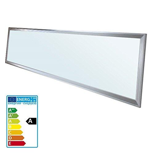 ECD Germany LED Panel 42W - 120 x 30 cm - 1-er Pack - Ultraslim Dünn - SMD 3014 - Kaltweiß 6000K - 220-240 V - ca. 3010 Lumen - Einbauleuchte Deckenleuchte Ultra Slim Panel
