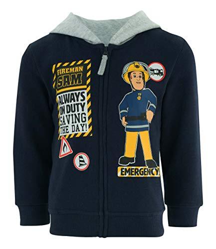 Feuerwehrman Sam Jungen Sweatjacke mit Kapuze, Bleu (Bleu Marine Bleu Marine) , 3 Jahre (Sam Feuerwehrmann Kostüm)