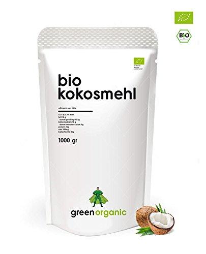 Bio Kokosmehl, Low-Carb Backen, Glutenfrei, Vegan, Entölt, Proteinreich, Ballaststoffreich, Paleo Superfood, Premium, Nachhaltig und Fair angebaut, Diät, 1000g