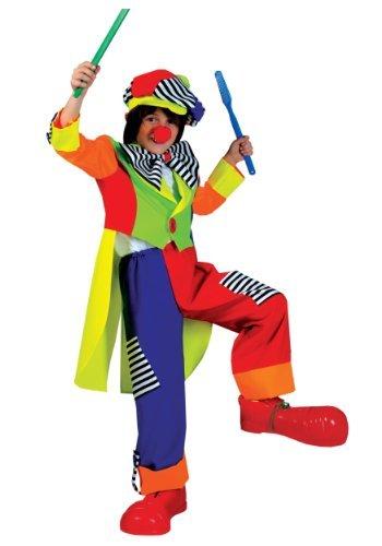 Clown Spanky Stripes Kostüm - Spanky Stripes Clown Ch Small by Funny Fashion