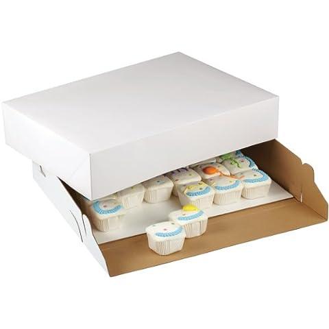 Wilton - Caja para tartas (2 unidades, cartón, 48,3 x 35,6 x 10,2 cm), color blanco