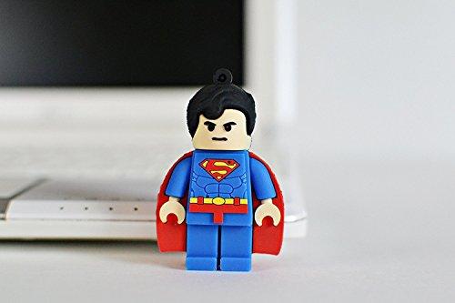 Chiavetta usb 2.0 a forma di superman, 64gb