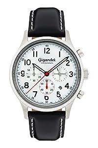 Gigandet Efficiency Hombres Reloj Cronógrafo Analógico Cuarzo Negro Plata G50-002 de Gigandet