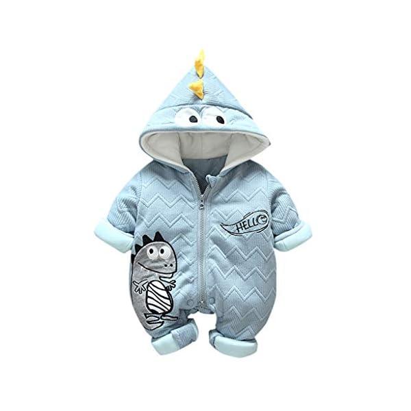 Felpa Pequeño Monstruo Encapuchado Recién Nacido Mono Invierno Moda Niñito Bebé Niños niñas Calentar Mameluco Mono… 1